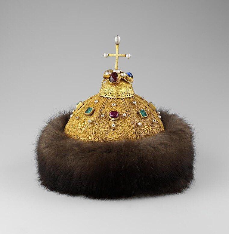 Шапка Мономаха - современный вид, Оружейная палата Московского Кремля