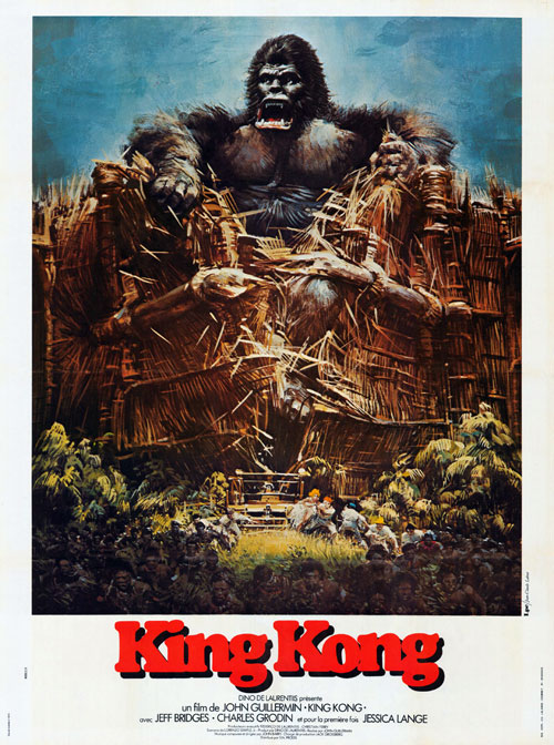 """Кинг-Конг"", США, 1976, Paramount, режиссёр Джон Гиллермин, автор сценария Лоренцо Семпл Мл., композитор Джон Барри"