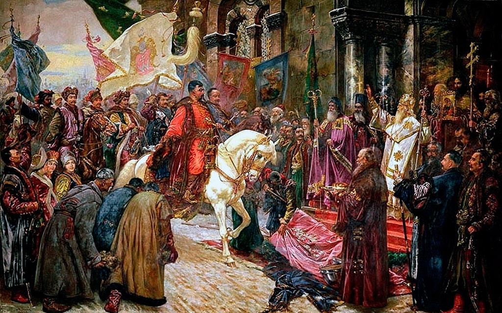 """""""Въезд Богдана Хмельницкого в Киев"""" - Н.И. Ивасюк"""