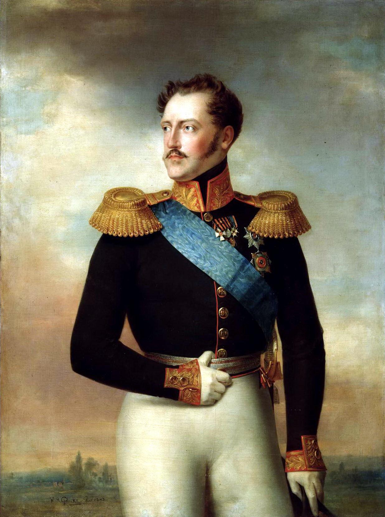 Николай I — портрет кисти В.А. Голике
