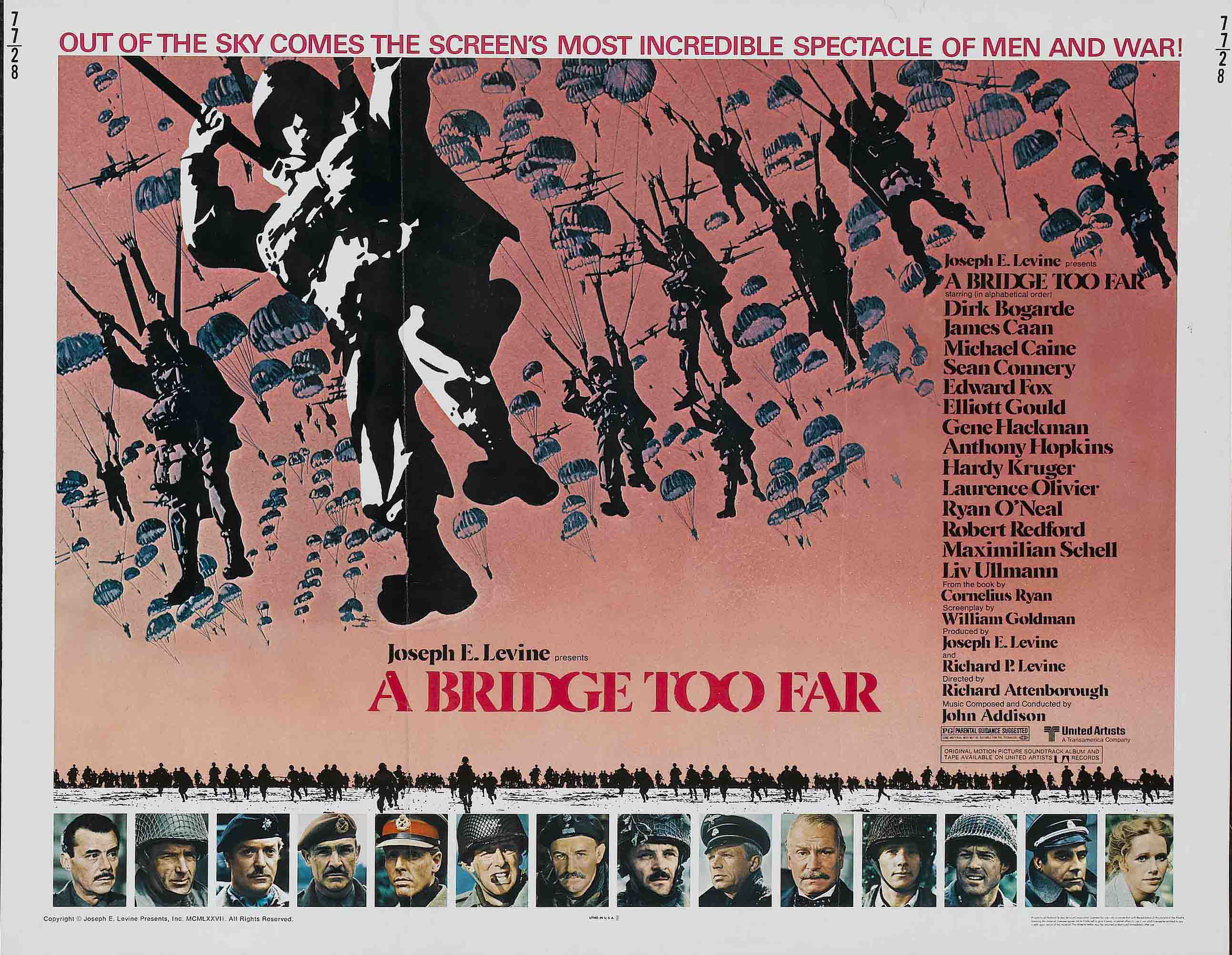 """Мост слишком далеко"", Великобритания-США, 1977, United Artists, режиссёр Ричард Аттенборо, автор сценария Уильям Голдман, композитор Джон Эдисон"
