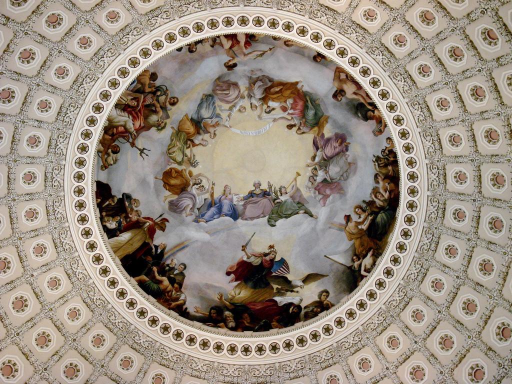 """""""Апофеоз Вашингтона"""" - фреска из купола Капитолия - фото с сайта teopolitika.ru"""
