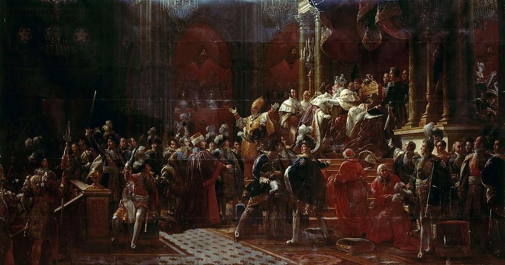 """Коронация Карла X в Реймсе"" — картина кисти Ф.П.С. Жерара"