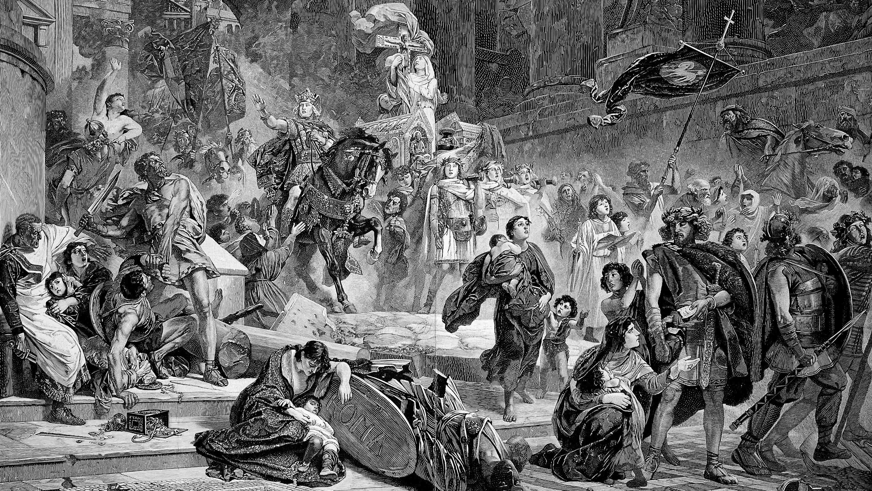 Разграбление Рима готами
