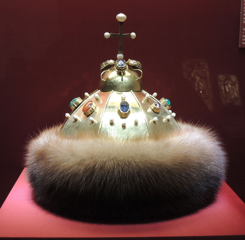 Шапка Мономаха второго наряда - Оружейная палата Московского Кремля