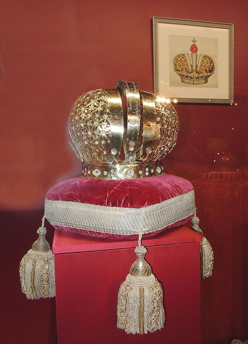 Остов короны Екатерины I - Оружейная палата Московского Кремля