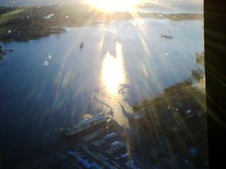 Boats in the sun