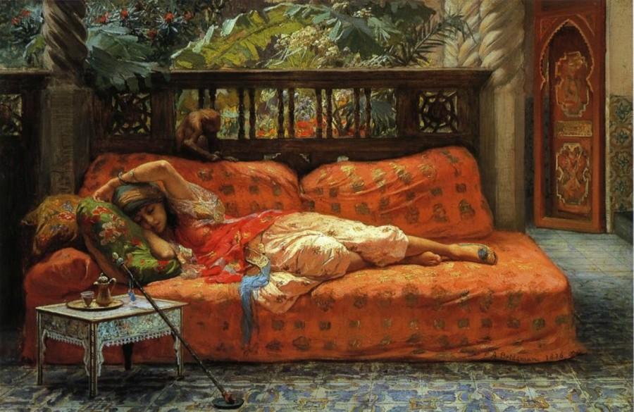 Frederick Arthur Bridgman - The siesta (Afternoon in dreams).jpg