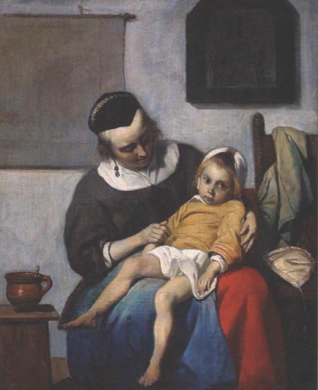 ГАБРИЕЛ МЕТСЮ Больной ребенок