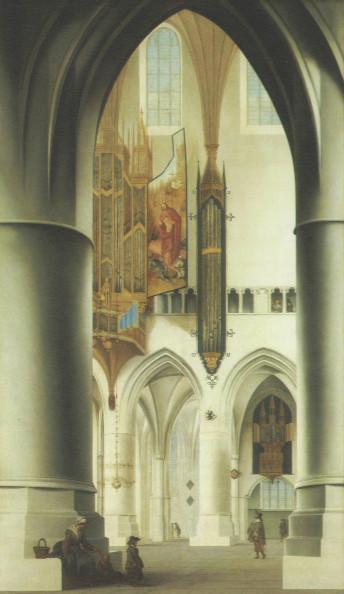 ПИТЕР ЯНС САНРЕДАМ Интерьер церкви Святого Бавона в Харлеме