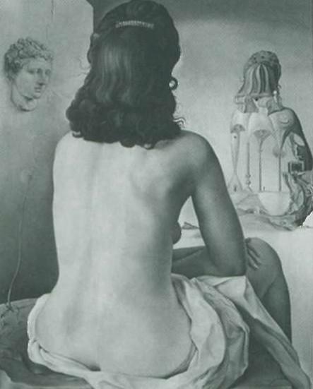Гала на картине Дали Моя жена, обнаженная, смотрит на собственное тело (1945)
