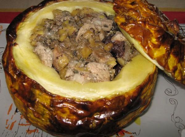Рецепт куриного мяса с тыквой с фото