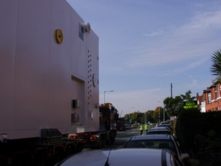 Pictures of the widest load I ever did see coming down our road
