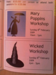 Mary Poppins & Wicked workshop
