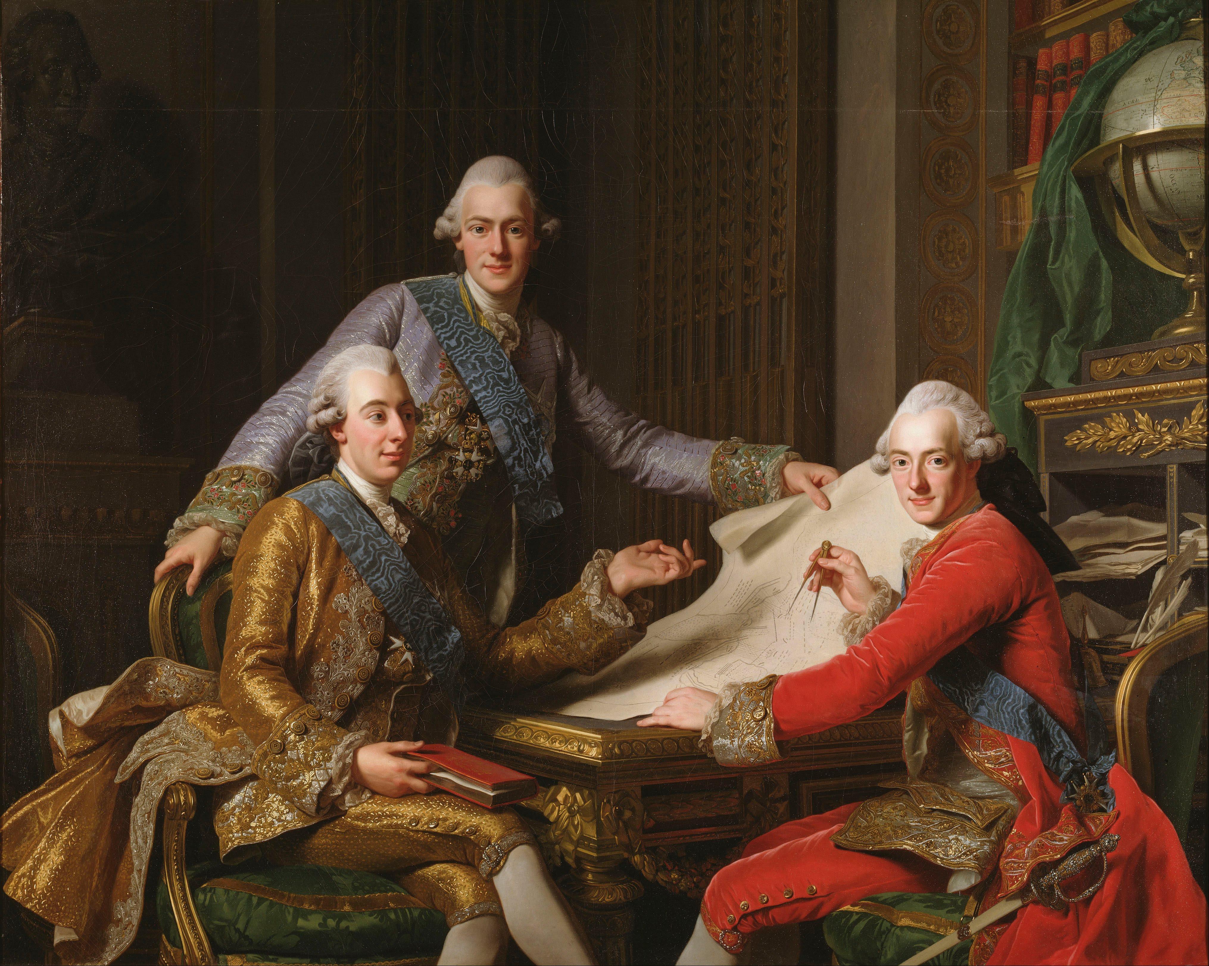 Alexander_Roslin_-_King_Gustav_III_of_Sweden_and_his_Brothers_-_Google_Art_Project