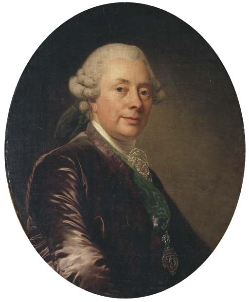 Portrait of a gentleman, bust-length, in a velvet jacket with a green medal-ribbon