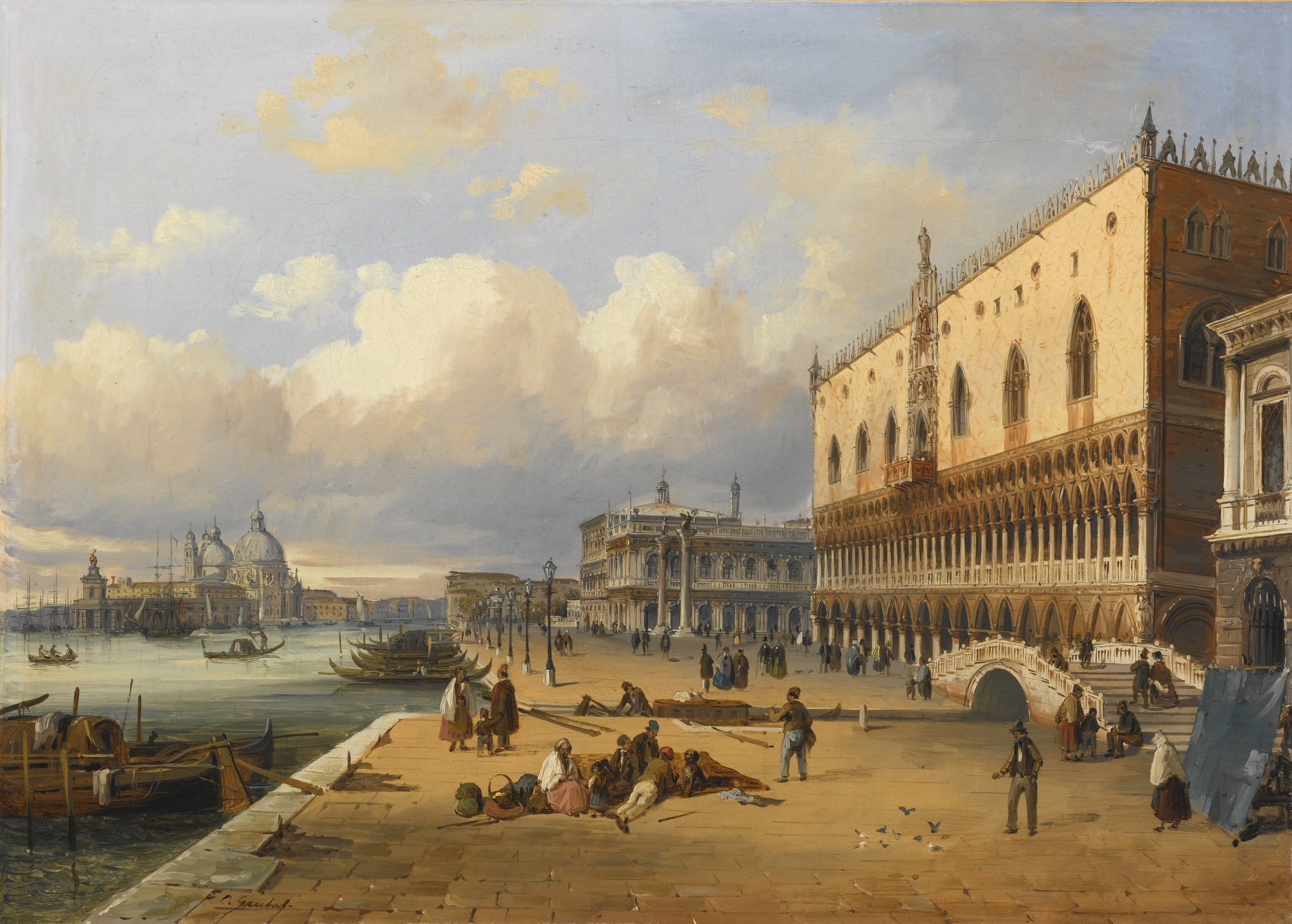 Carlo_Grubacs_Venice,_a_View_of_the_Doge's_Palace_and_Piazzetta