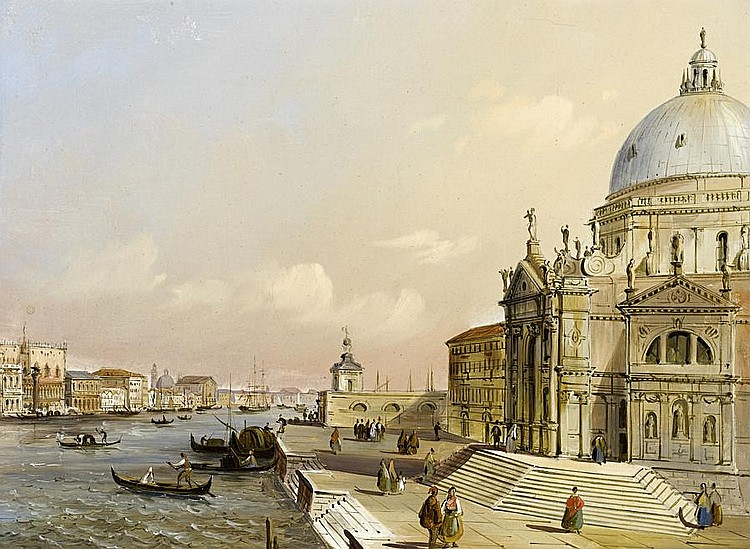 On the steps of Santa Maria della Salute