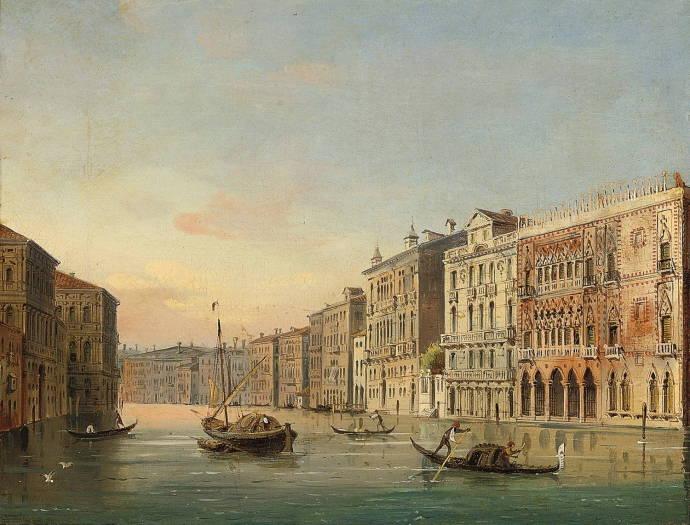 Венецианский канал с гондоллами