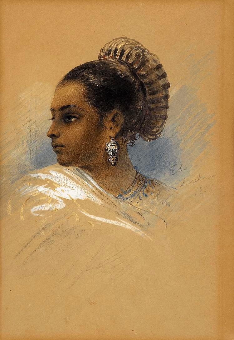 Indisk kvinna i profil