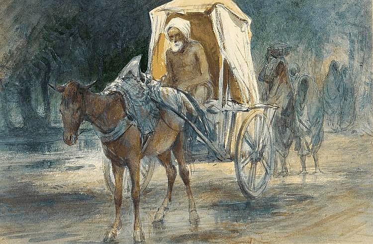 Tältvagn från regntiden