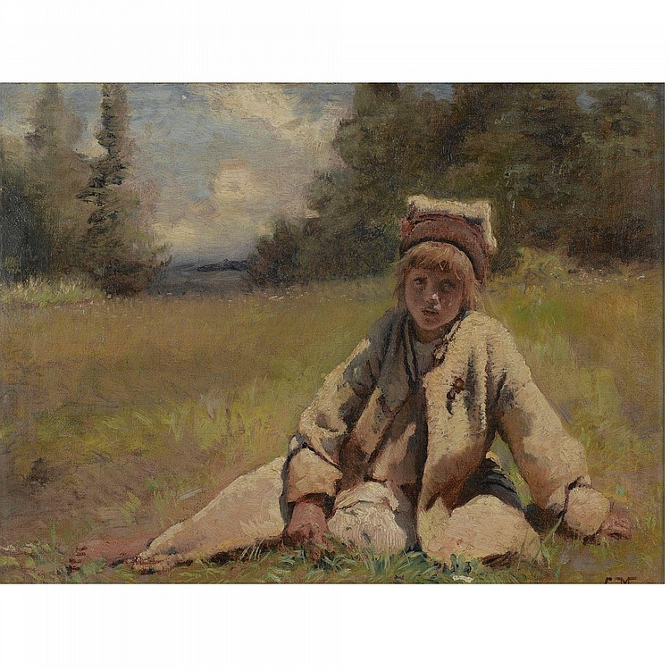 PEASANT BOY IN A MEADOW