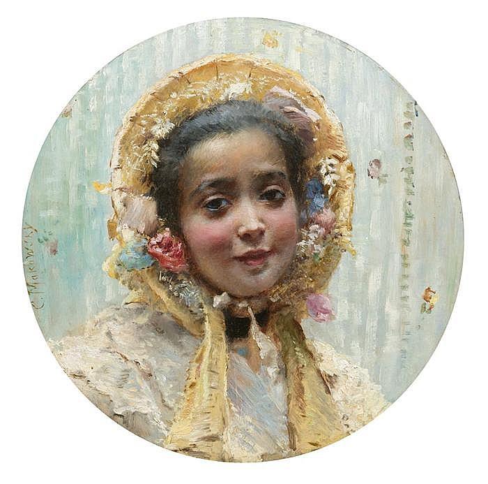 Portrait eines jungen Mädchens mit Hut