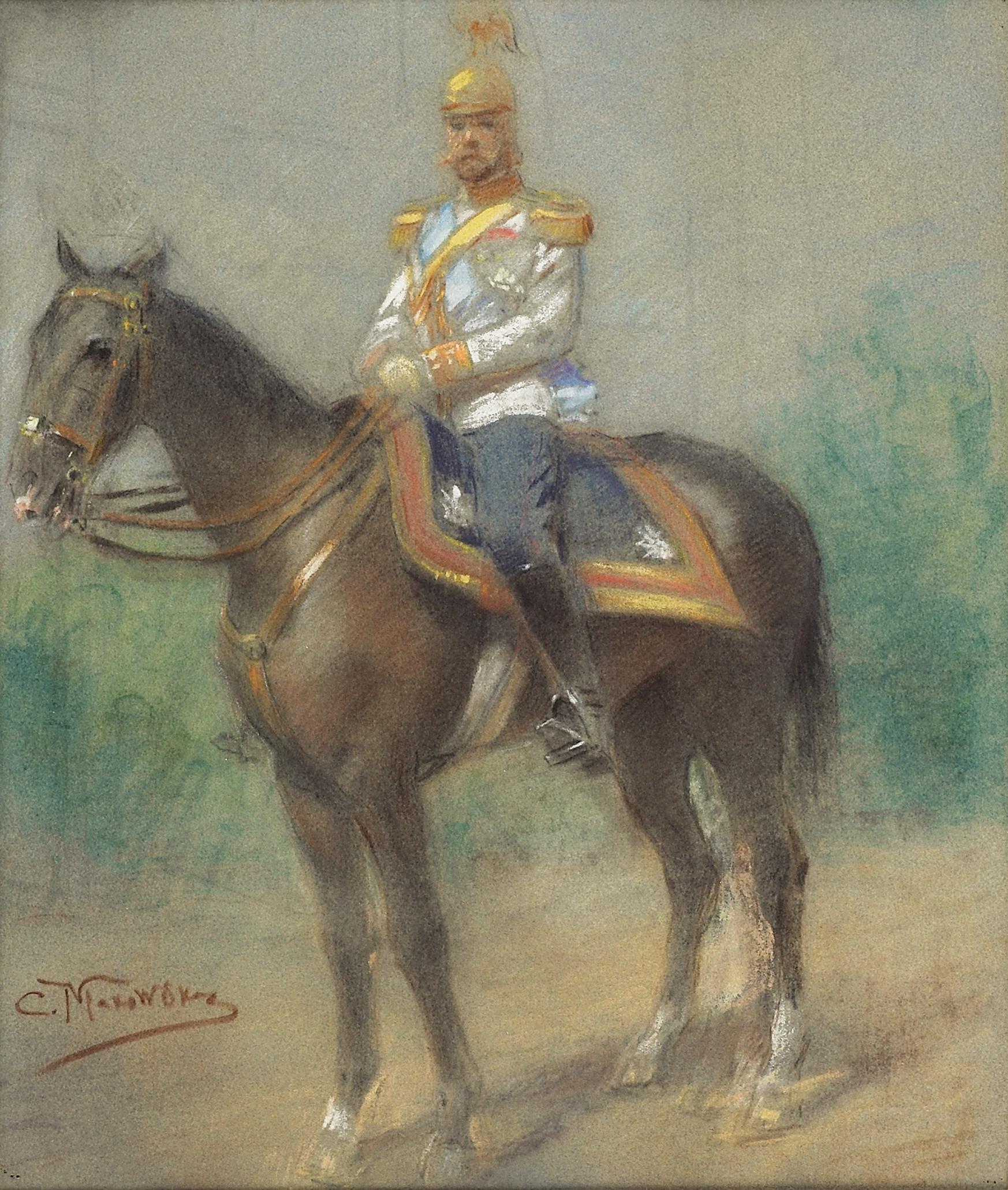 Tsar Nicholas II on Horseback