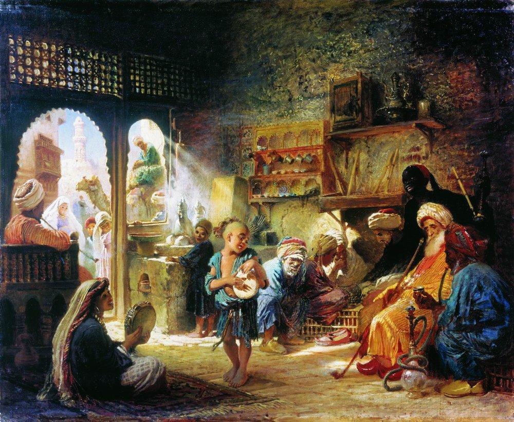 В Каирской кофейне. 1872