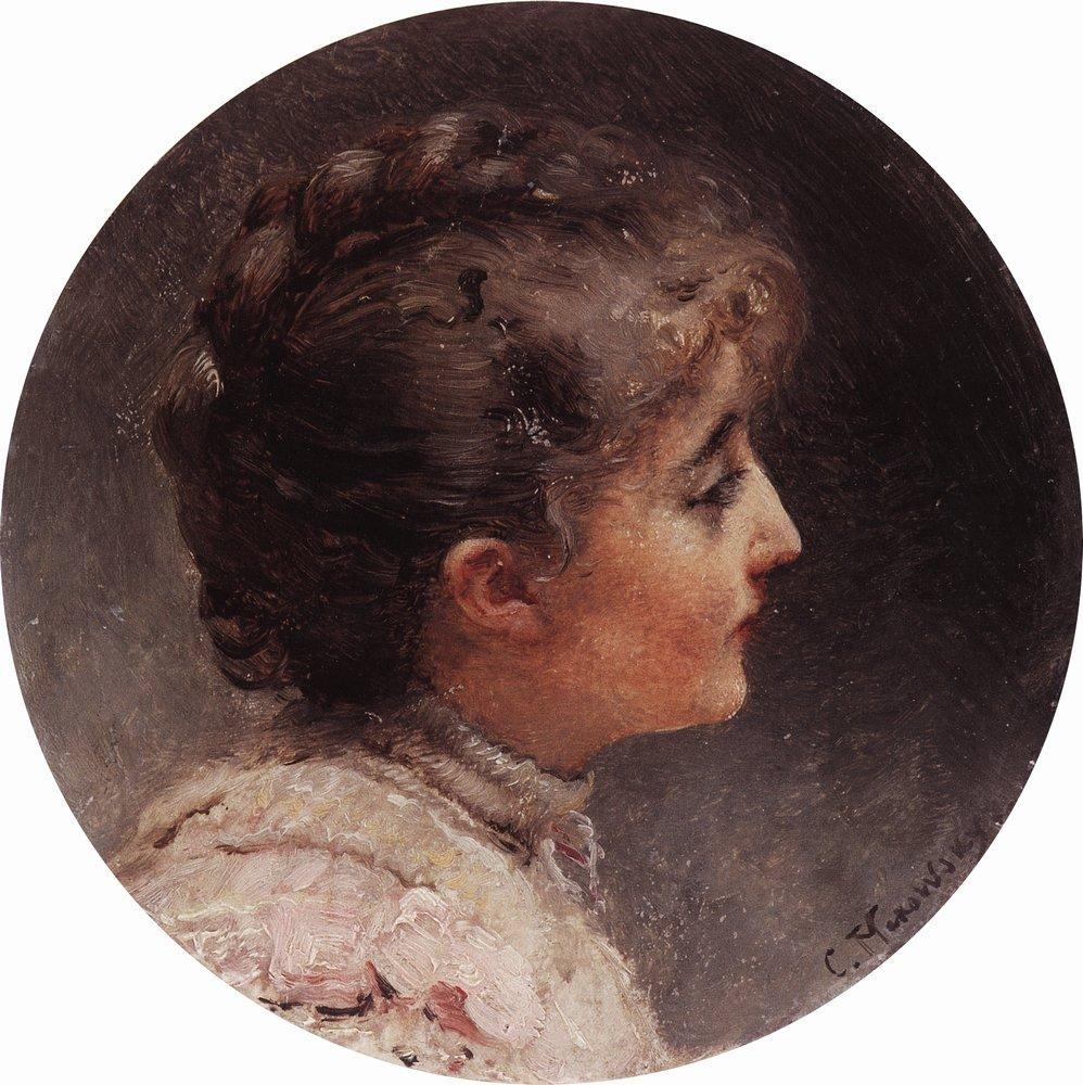 Головка. Портрет госпожи Вивьен, жены актера и режиссера Л.С.Вивьена. 1900-е