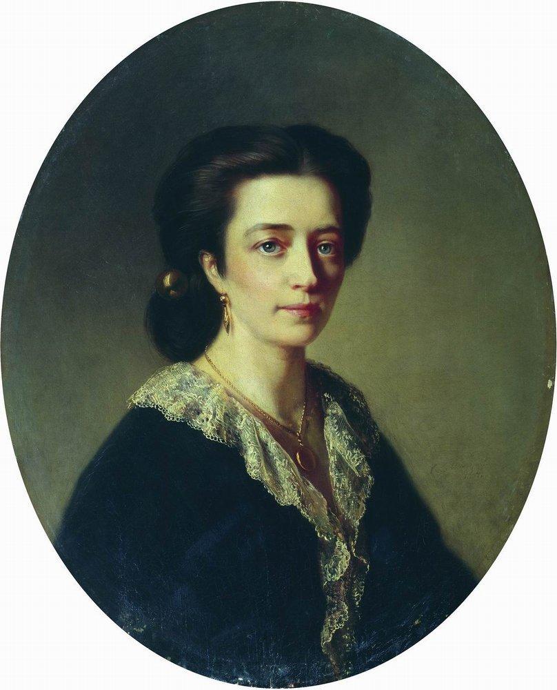 Дама в черном. 1864