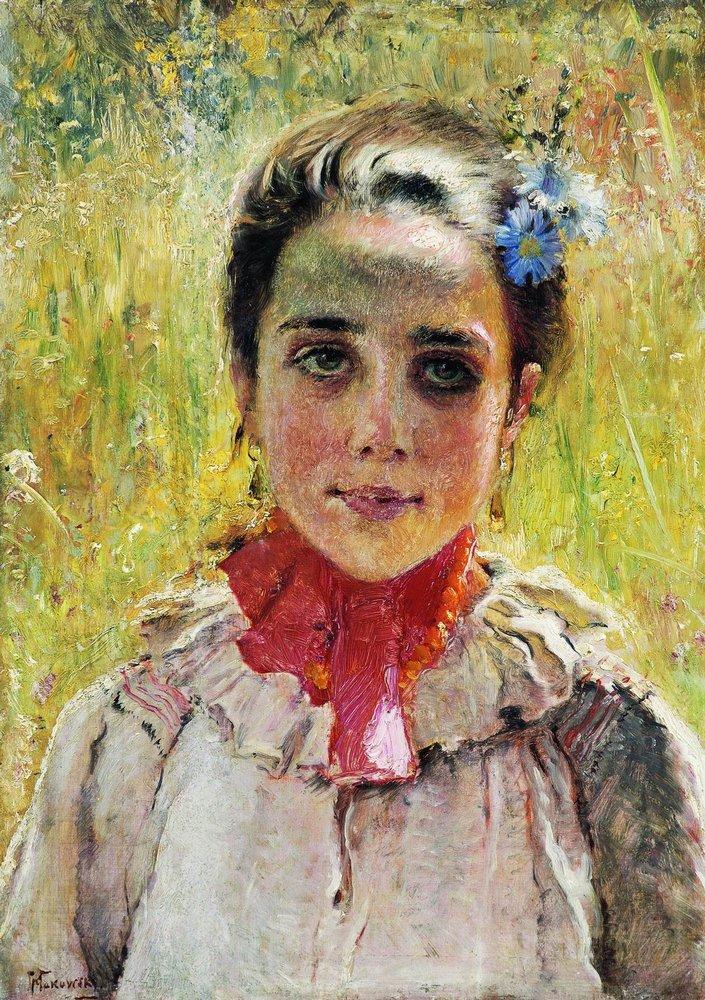Девочка в поле. 1900-е
