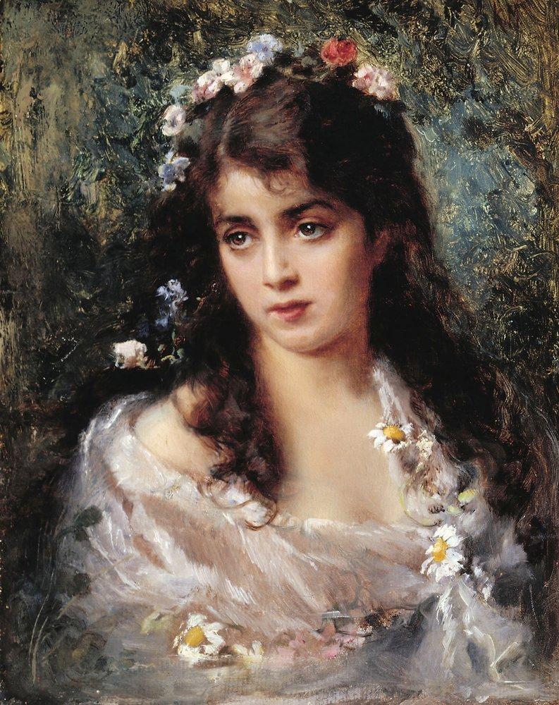 Девушка в костюме Флоры