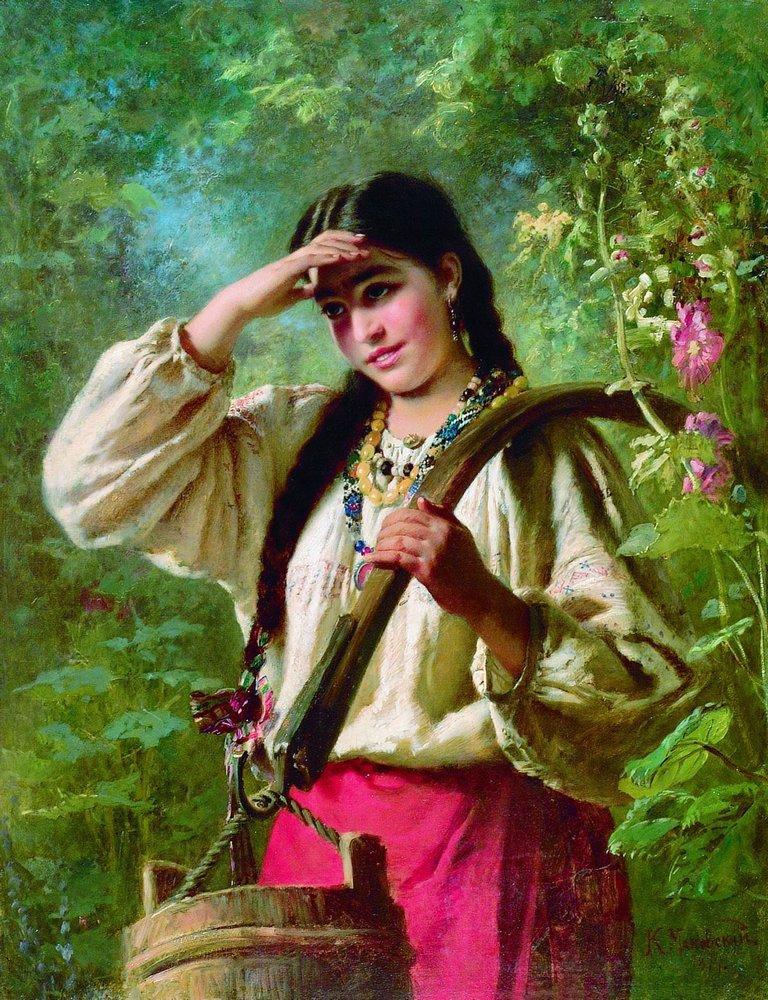 Девушка с коромыслом. 1874