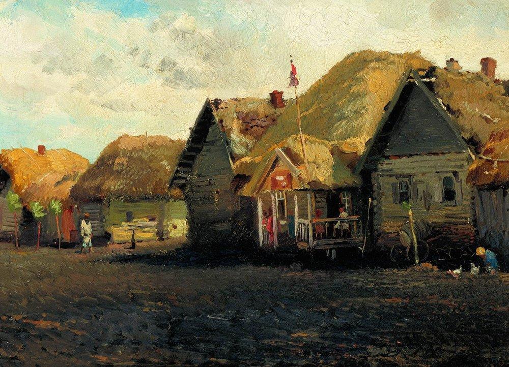 Деревенский пейзаж. 1870-е