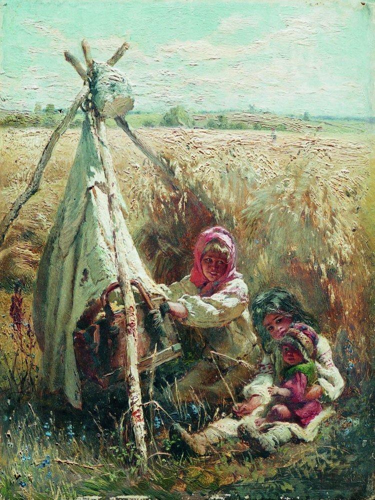 Дети в поле. 1870-е