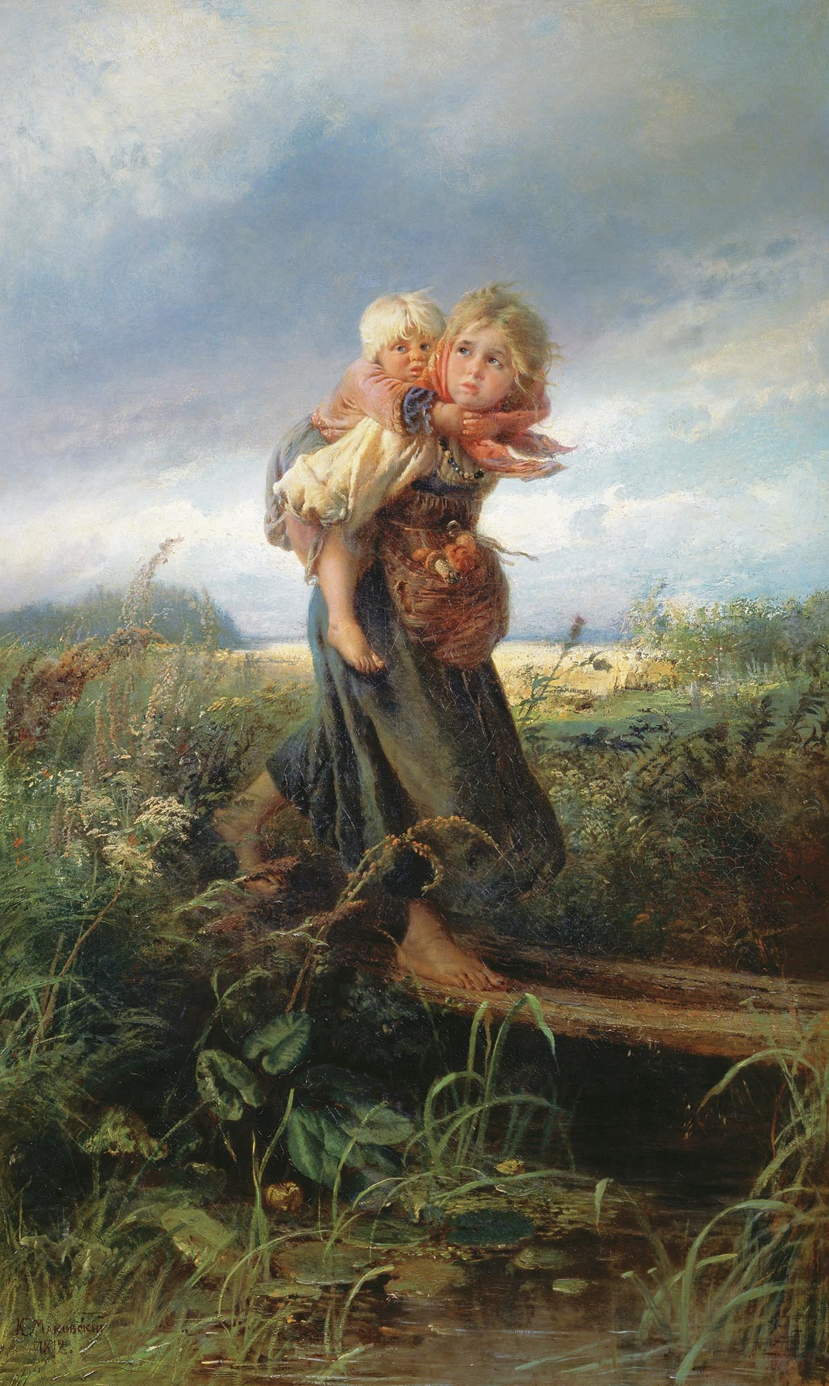 Дети, бегущие от грозы. 1872