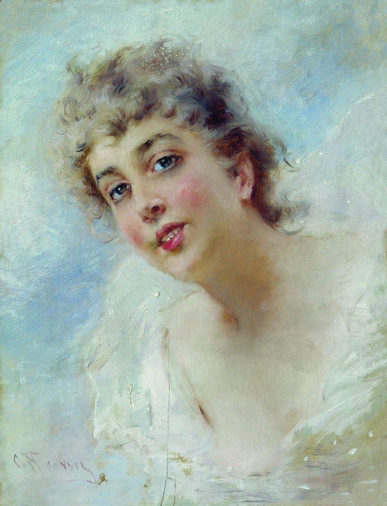 Женская головка. 1874