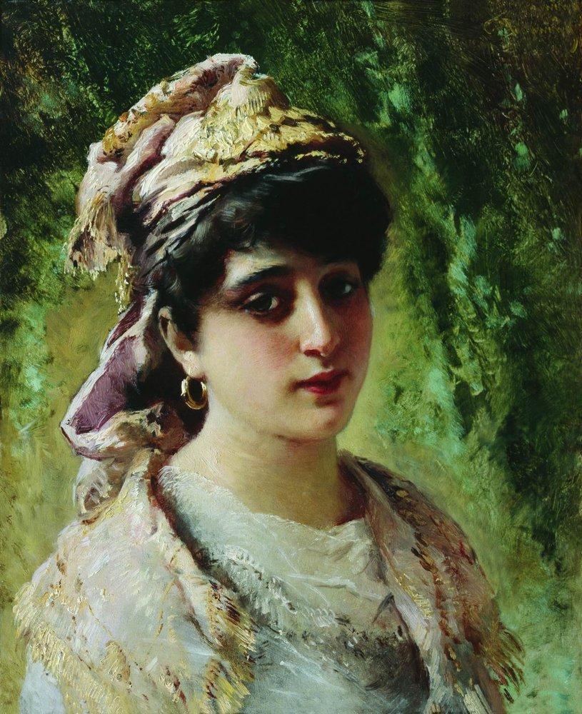Женская головка. 1890-е
