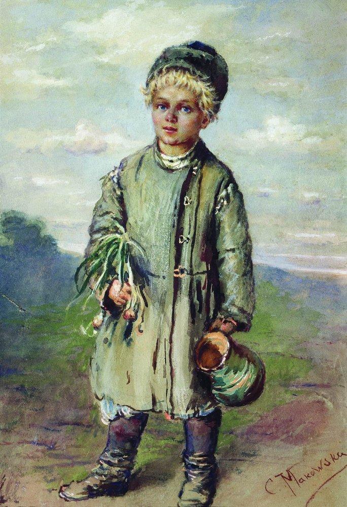 Крестьянский мальчик. 1880-е