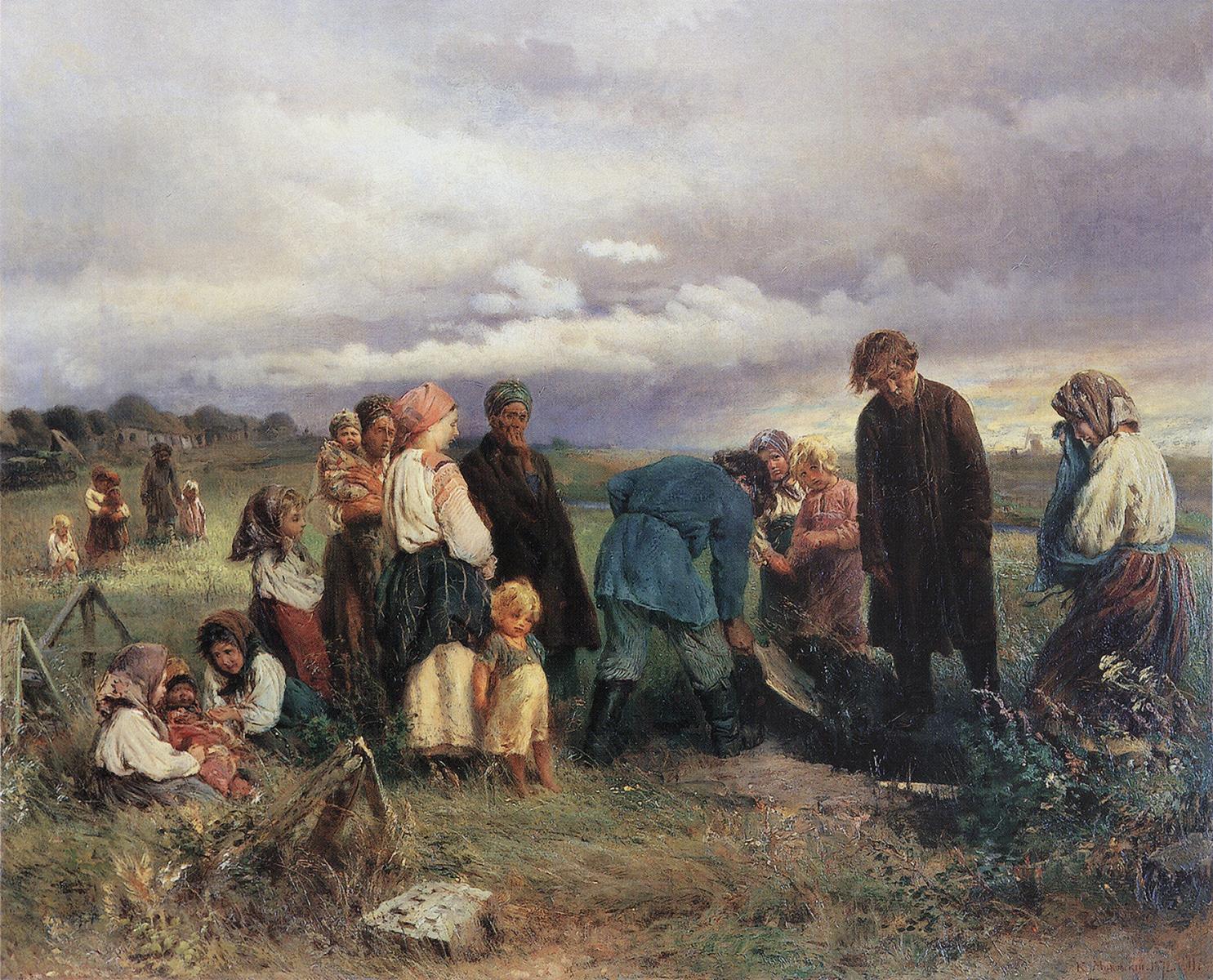 Маковский_Похороны-ребенка_1872