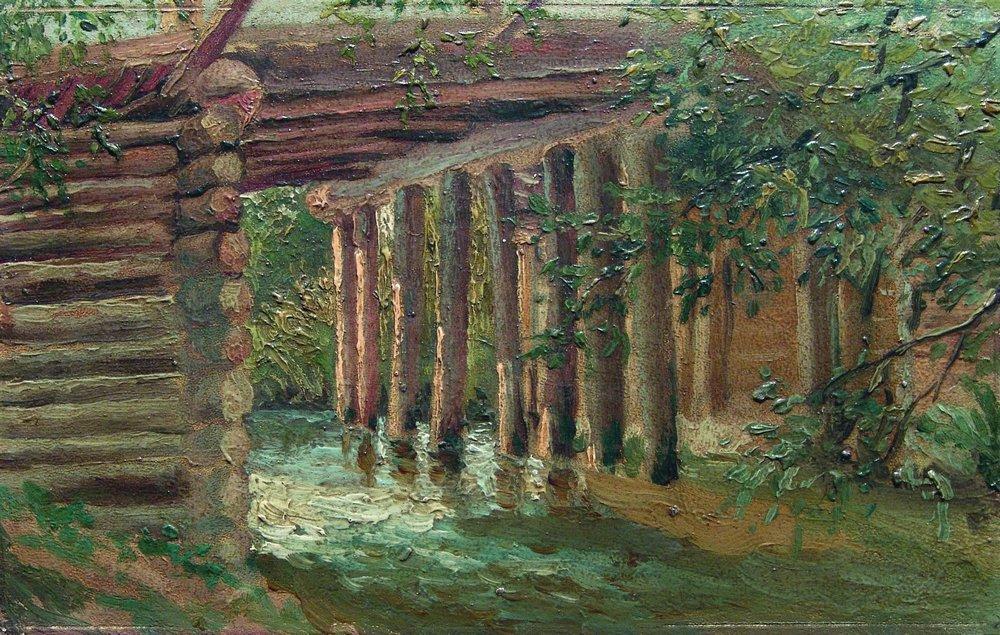 Мост через речку. 1880-е