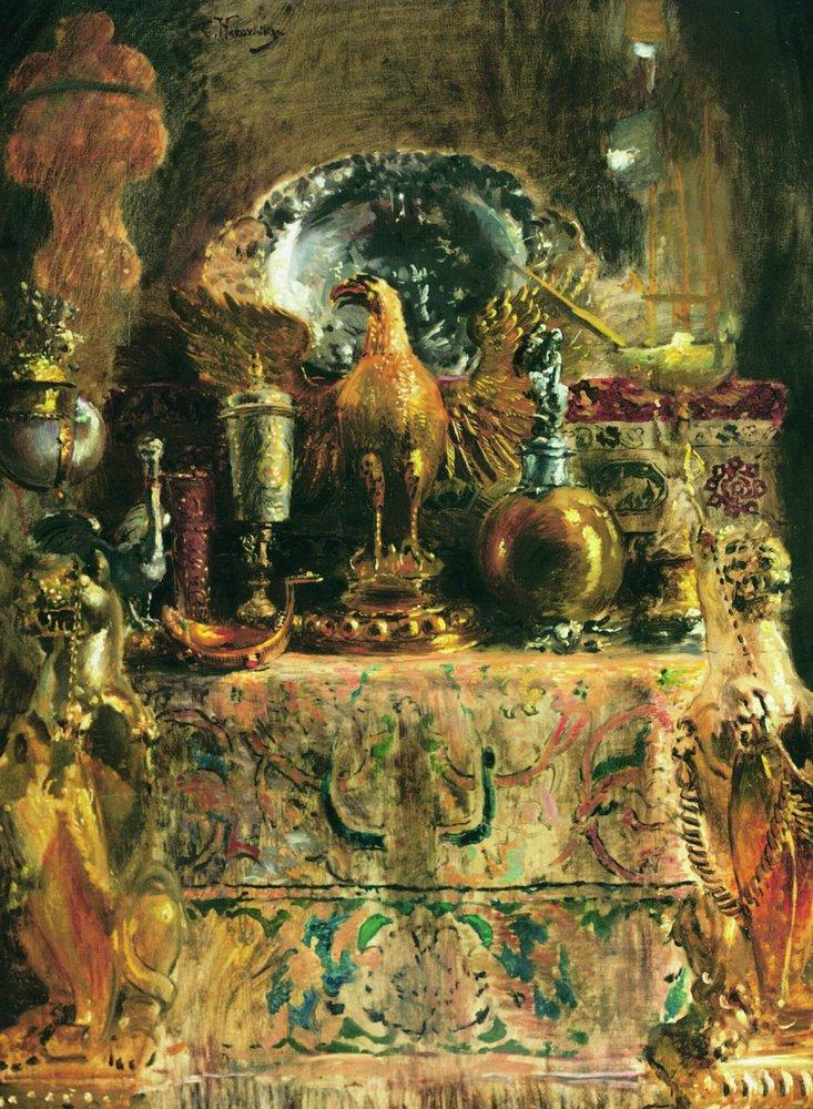 Натюрморт. Сокровища Грановитой палаты. 1890-е