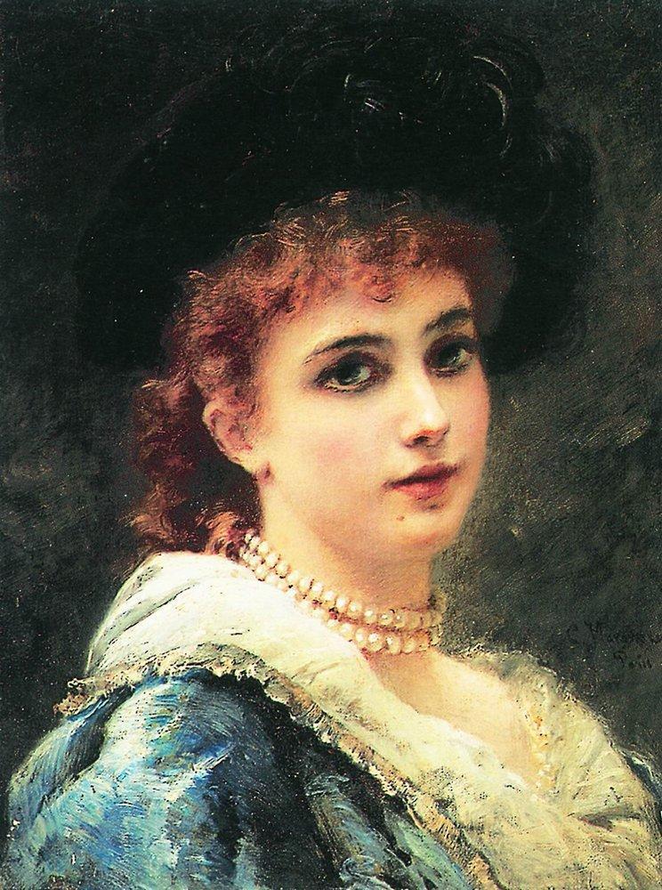 Парижанка в жемчужном ожерелье. 1890-е