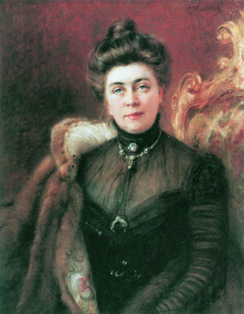 Портрет А.И.Сувориной. 1880-е