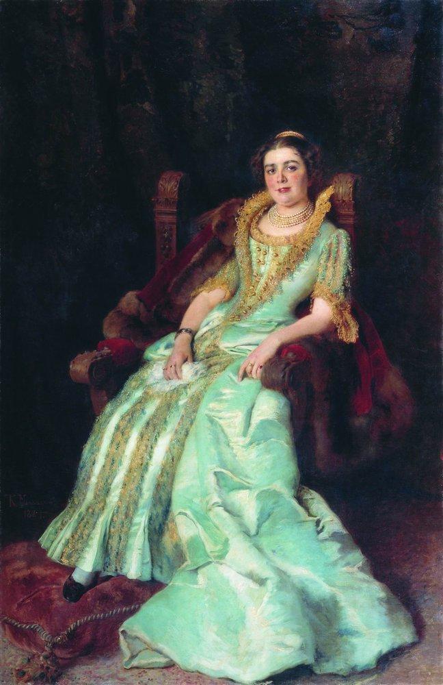 Портрет В.А.Морозовой. 1884