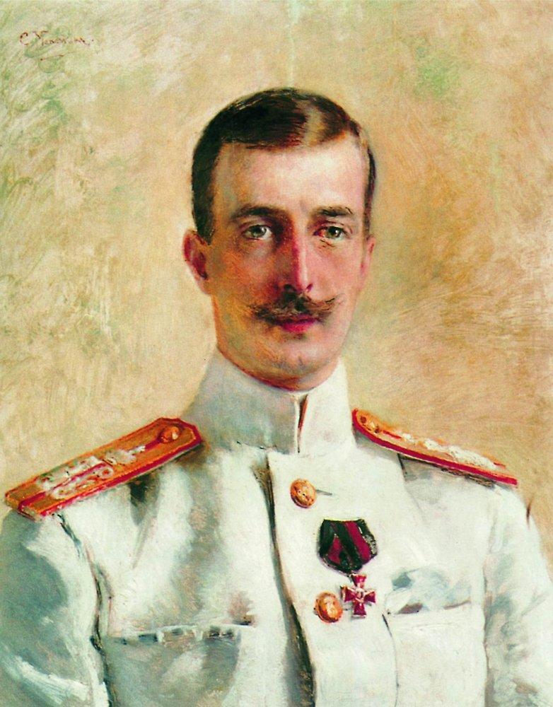 Портрет великого князя Кирилла Владимировича, старшего сына великого князя Владимира Александровича, брата императора Александра III. 1880-е