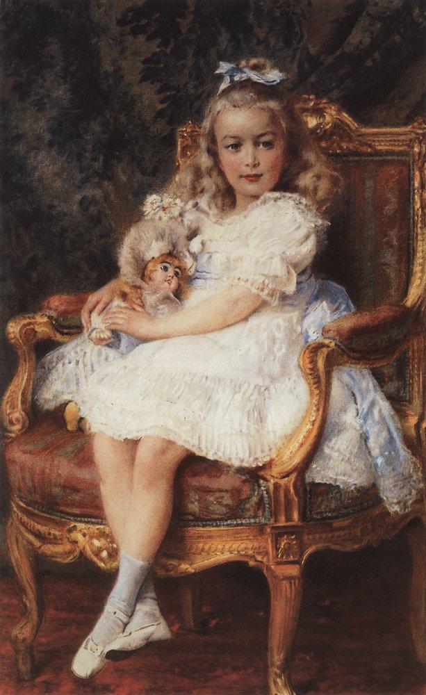 Портрет великой княжны Марии Николаевны. 1905