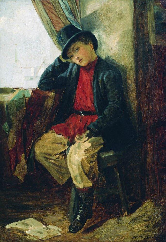 Портрет Владимира Егоровича Маковского в детстве. 1854