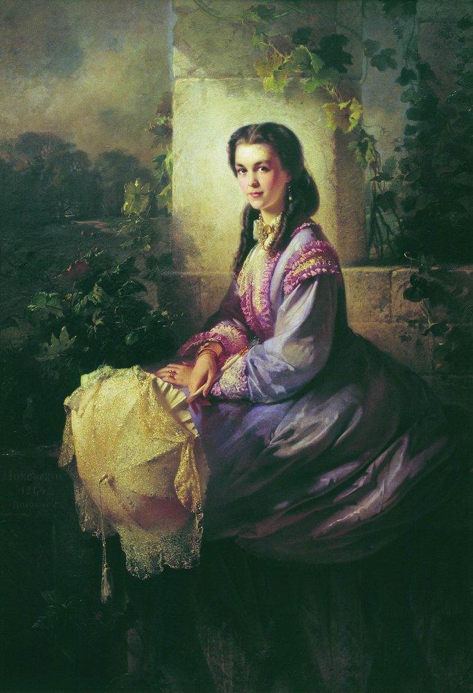 Портрет графини С.Л.Строгановой. 1864